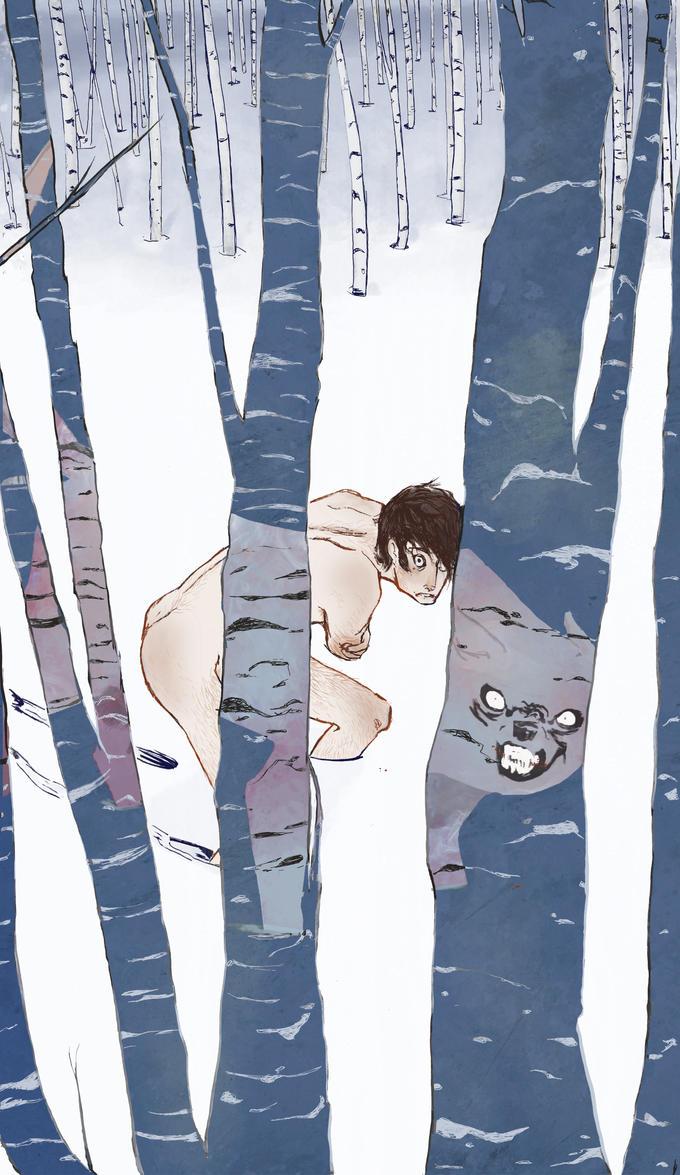 Winter Wolf by kiri-no-tanuki