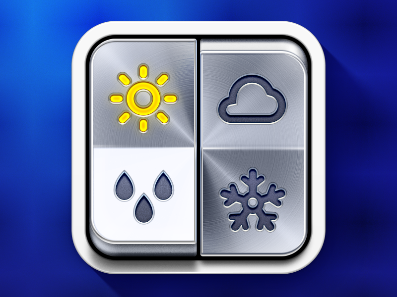 'Weather On' iPhone App Icon by Ramotion
