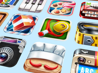 Realistic iOS App Icons by Ramotion