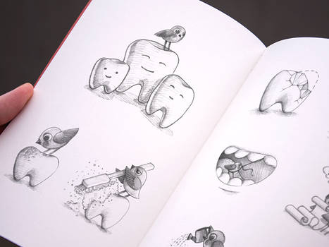 Sketching For A Dental Service