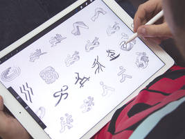 App logo sketches by Ramotion