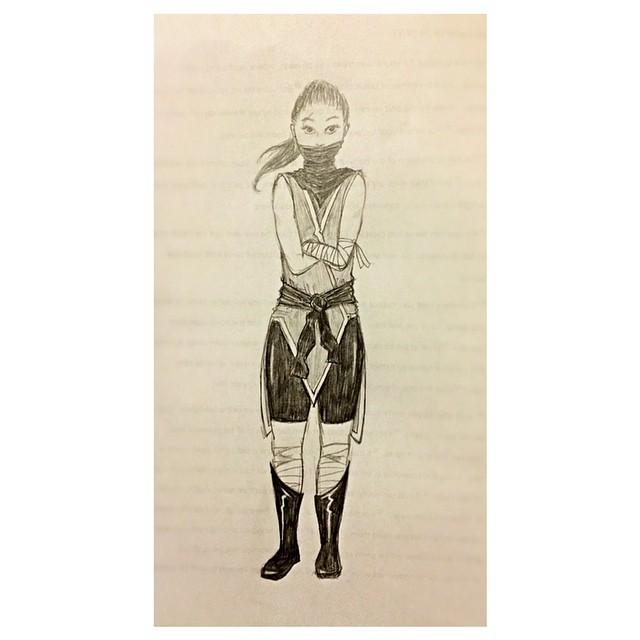 Ninja Lady Doodle by kristollini