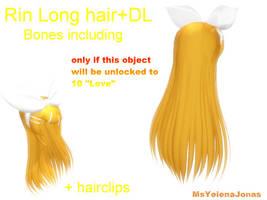 MMD: Rin Long Hair: +DL by MsYelenaJonas