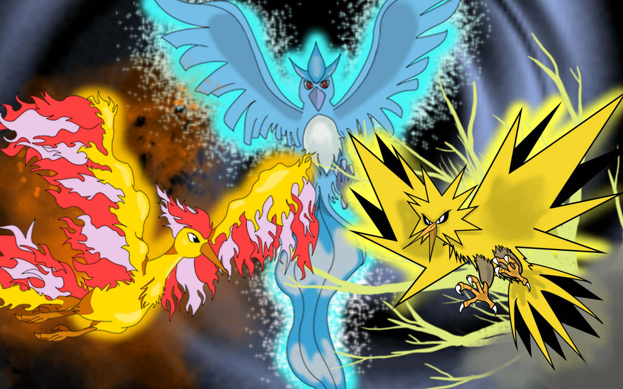 Pokemon - The Legendary Birds by GinYugure on DeviantArt