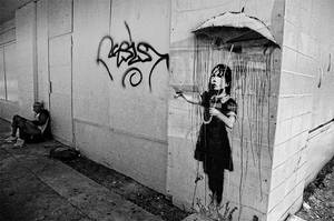 Banksy in New Orleans by evreniz