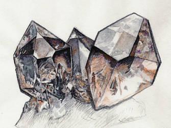 Smoky Quartz Crystal by Skystone