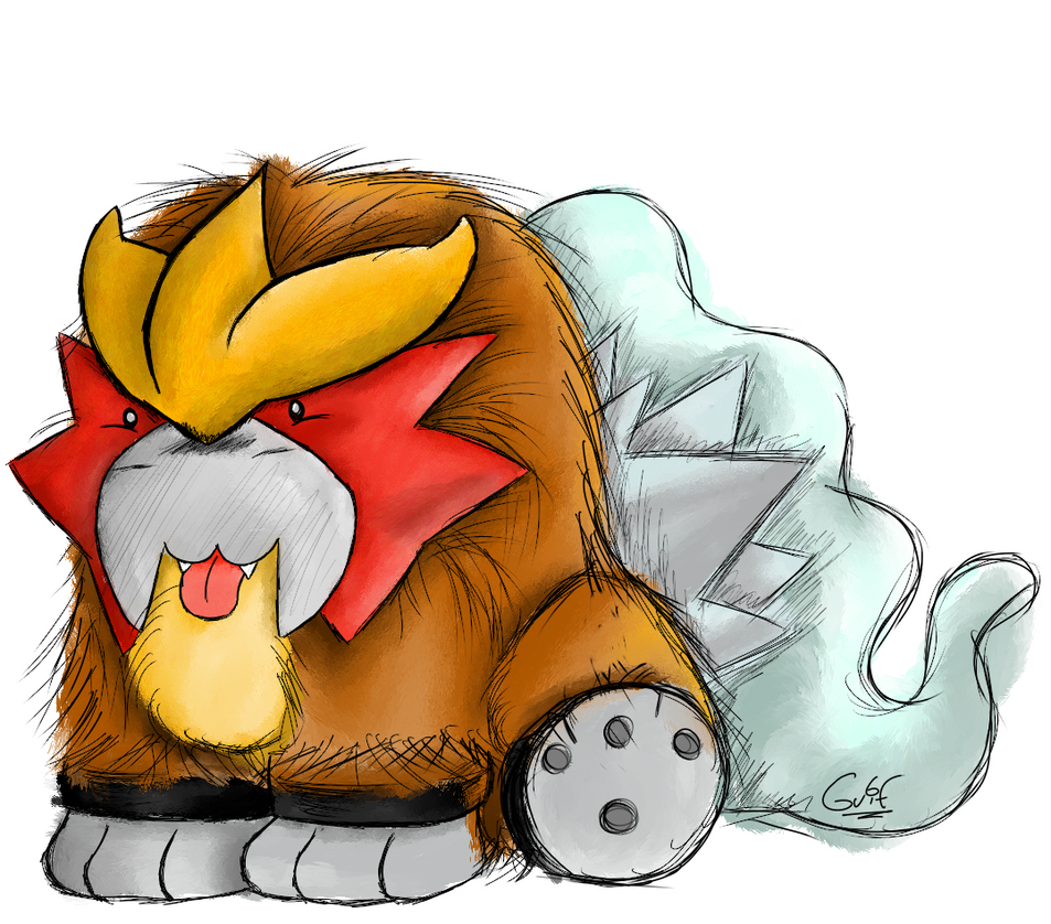 #244 Entei by Guilll