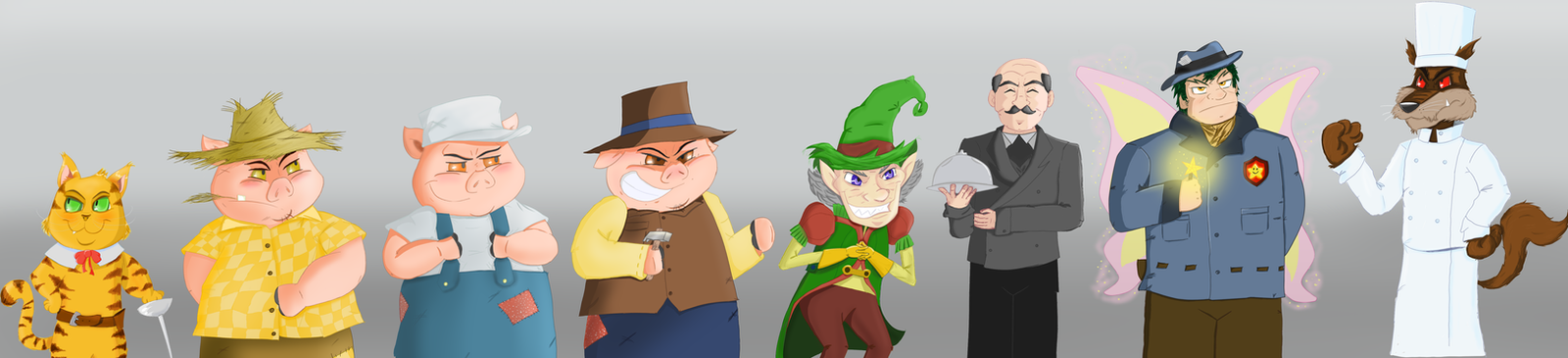 Game project characters by Guilll