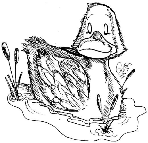 Inktober #5 - A Duck by Guilll