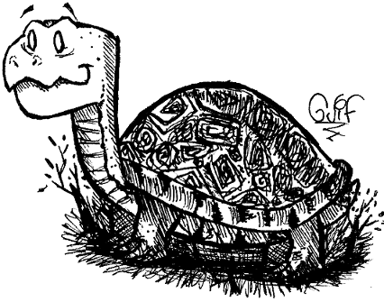 Inktober #6 - A Turtle by Guilll