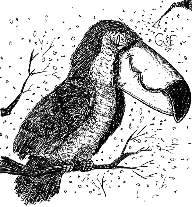 Inktober #29 - A Toucan by Guilll