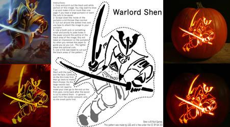 Warlord Shen Pumpkin Pattern