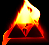 Flaming Triforce by Nintendraw