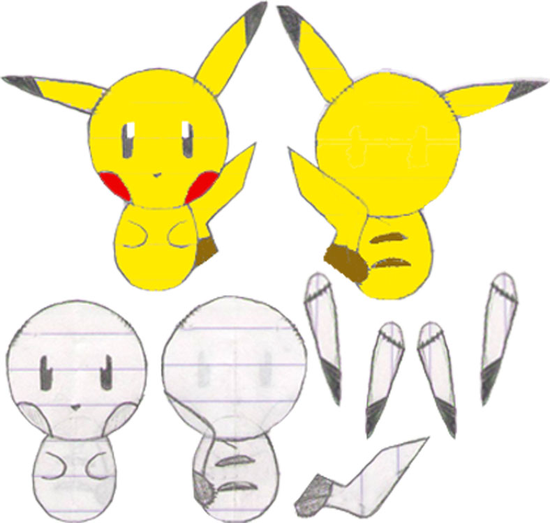 Pikachu Amigurumi Pattern Version 2 by The-love-of-Crochet ...