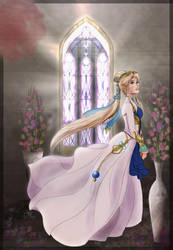 [FE:SD] Nyna stained glass by Nintendraw
