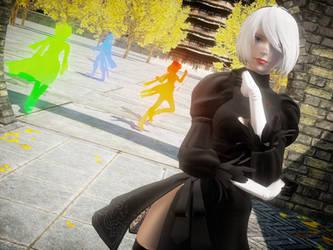 [Nier:MMD] Kuroyu 2B, no blindfold by Nintendraw