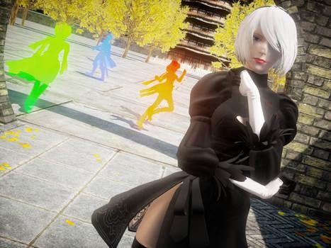 [Nier:MMD] Kuroyu 2B, no blindfold