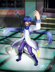 [Vocaloid] Kaito, Rockin' Out by Nintendraw