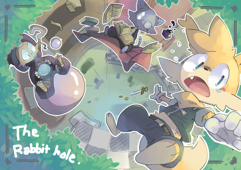 The rabbit hole by Wile-Z-Kitsune