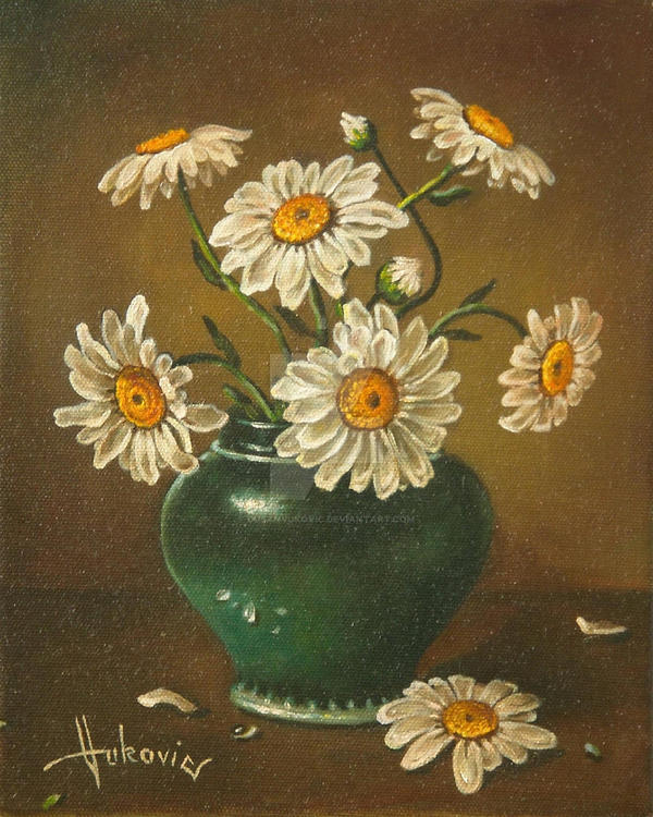 Daisies in a vase by dusanvukovic