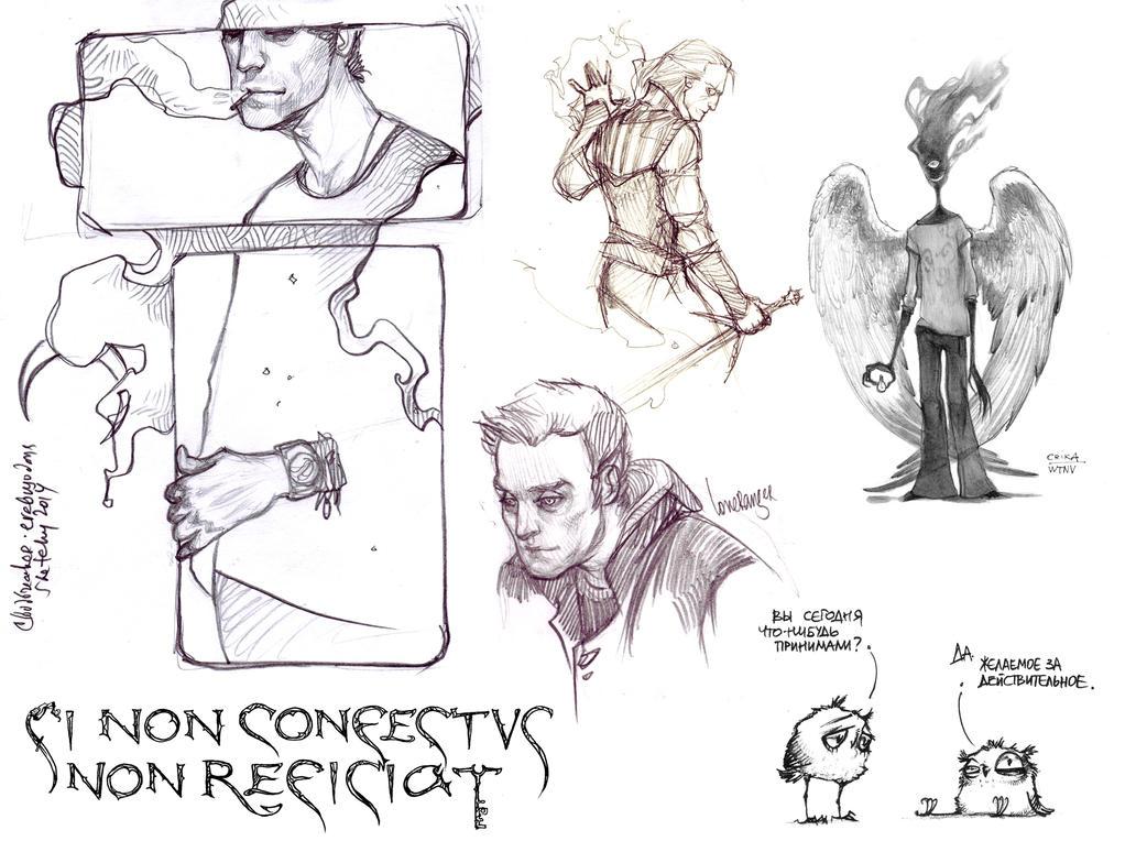 Two weeks of October: sketchdump by erebus-odora