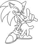 Sonic TH Lineart