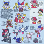 kirby characters Saying Things by D00pcakes