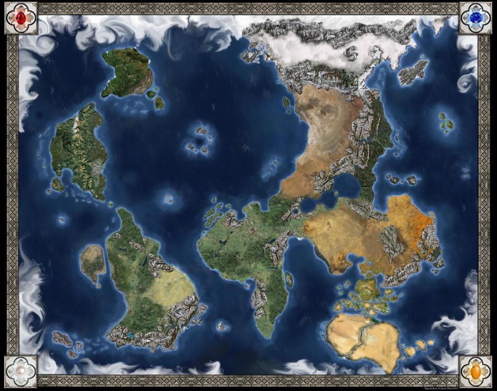D+D World Map - Kirin by CaffeineHeart