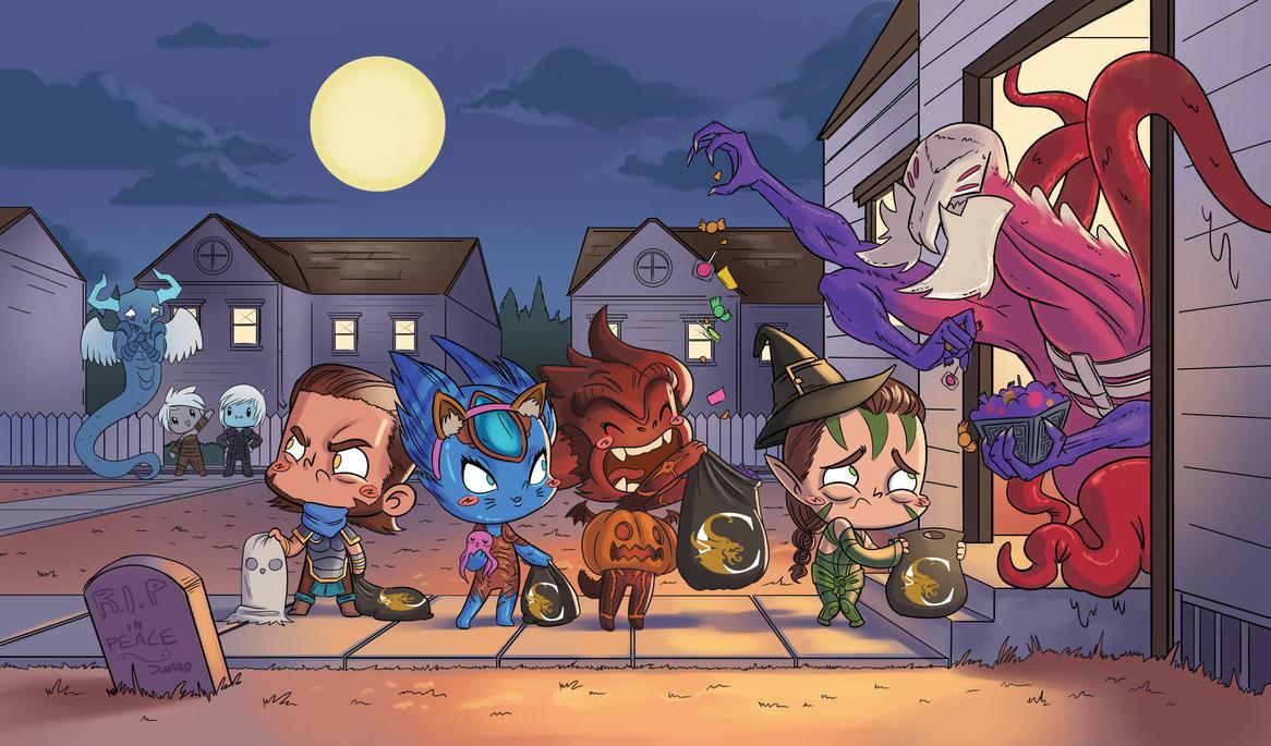 Magic the Halloweening by CaffeineHeart