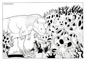 The Land Before Time coloring page