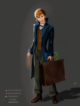 Newt Scamander by bithi9696