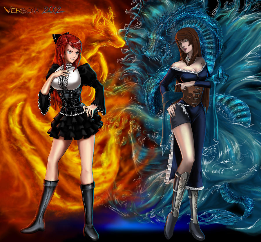 Fire And Water By Verdibona On DeviantArt