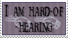 Hard-of-Hearing Stamp by lonelynightmares