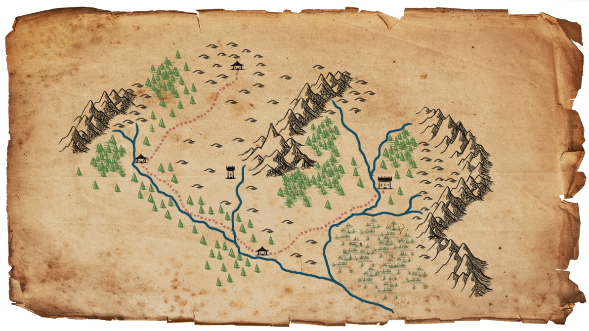 Generic blank fantasy map by FastSniperfox on DeviantArt