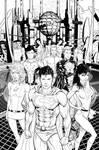 Adventure Comics cover inks