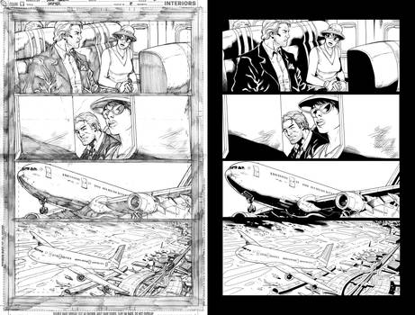 Grifter #8 page 1 inks...