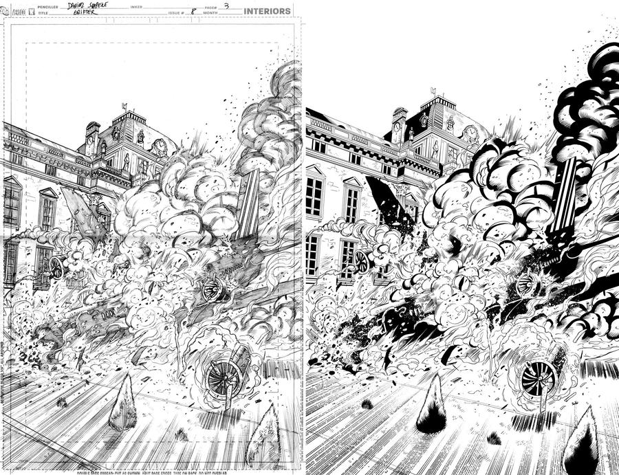 Grifter #8 page 3 inks... by Hachiman1