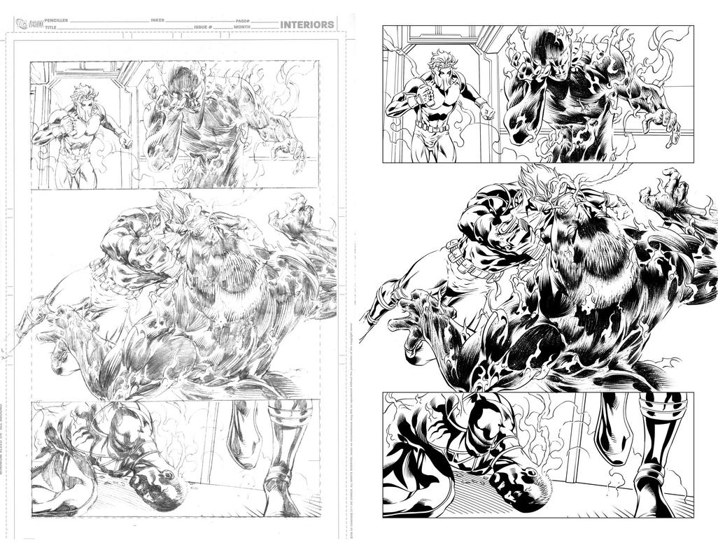 Grifter #13 page 15 inks... by Hachiman1