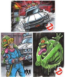 Ghostbusters Sketch Cards