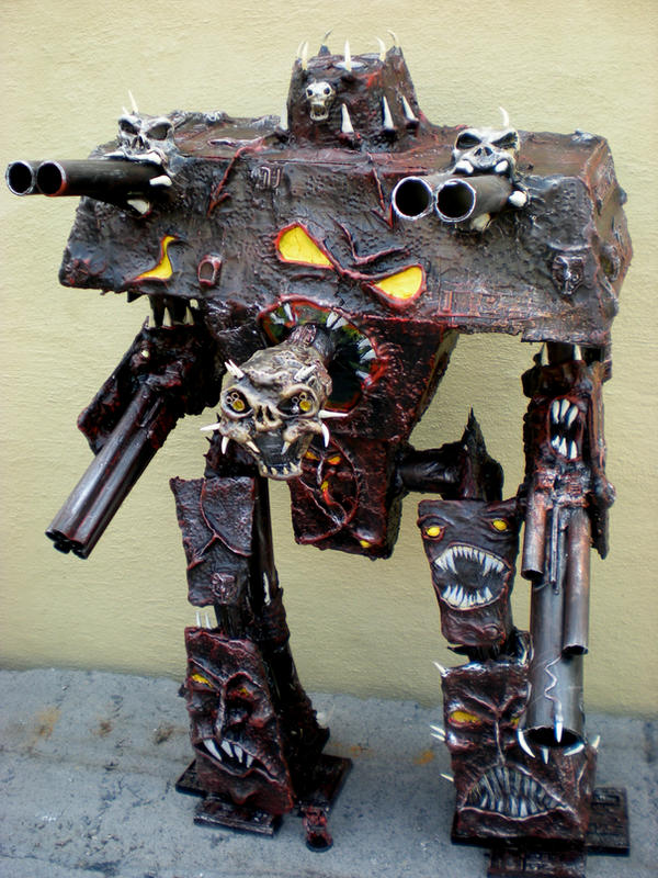 warhammer 40k chaos titan by richardsymonsart