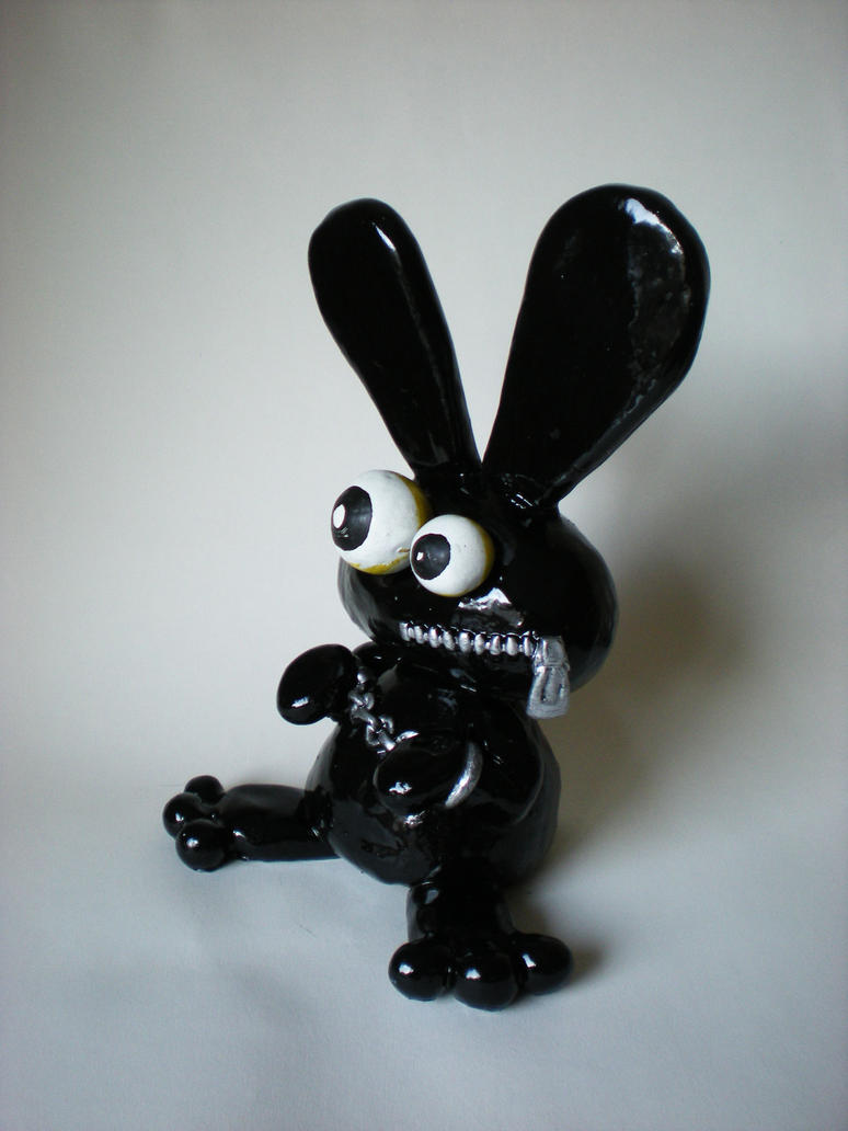 gimp bunny sculpture by richardsymonsart