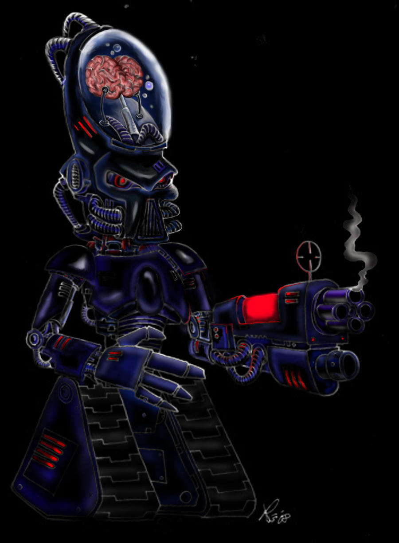 evil robot by richardsymonsart