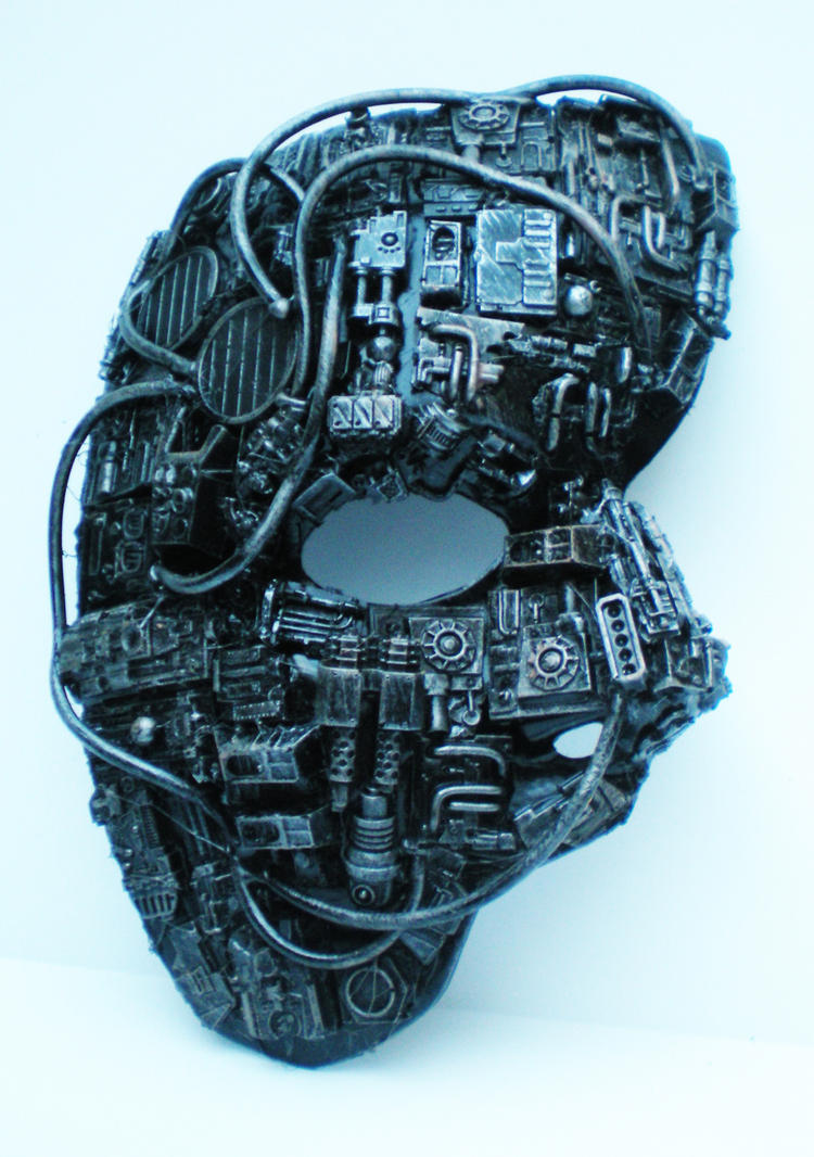 techno phantom mask by richardsymonsart