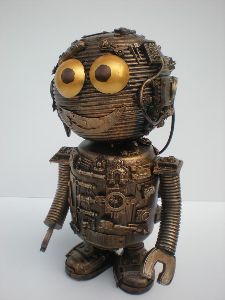 cute little robot buddy by richardsymonsart