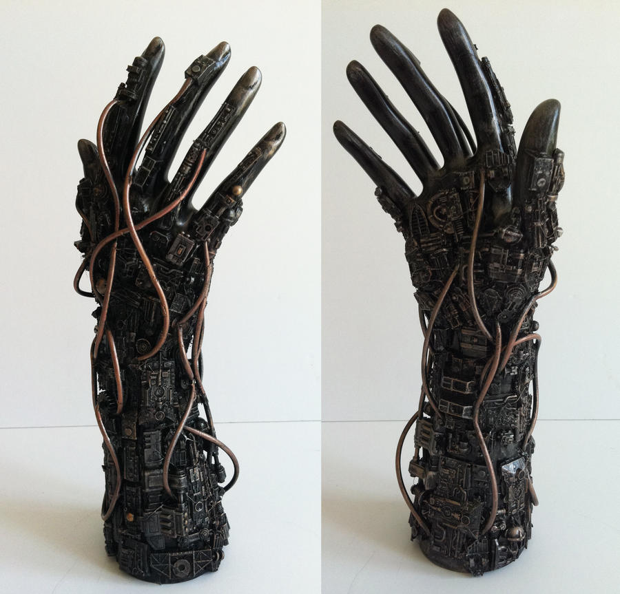 techno hand by richardsymonsart