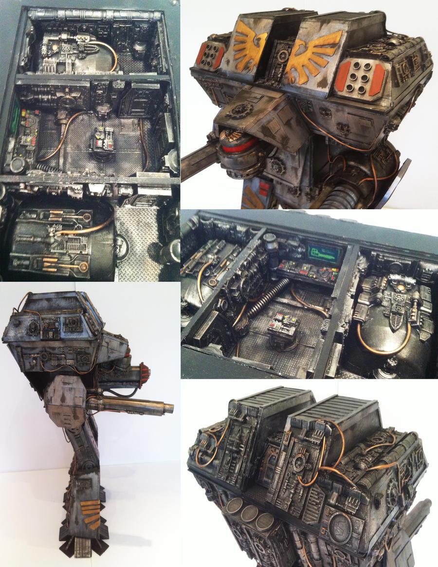 40k warlord titan 2 detail by richardsymonsart