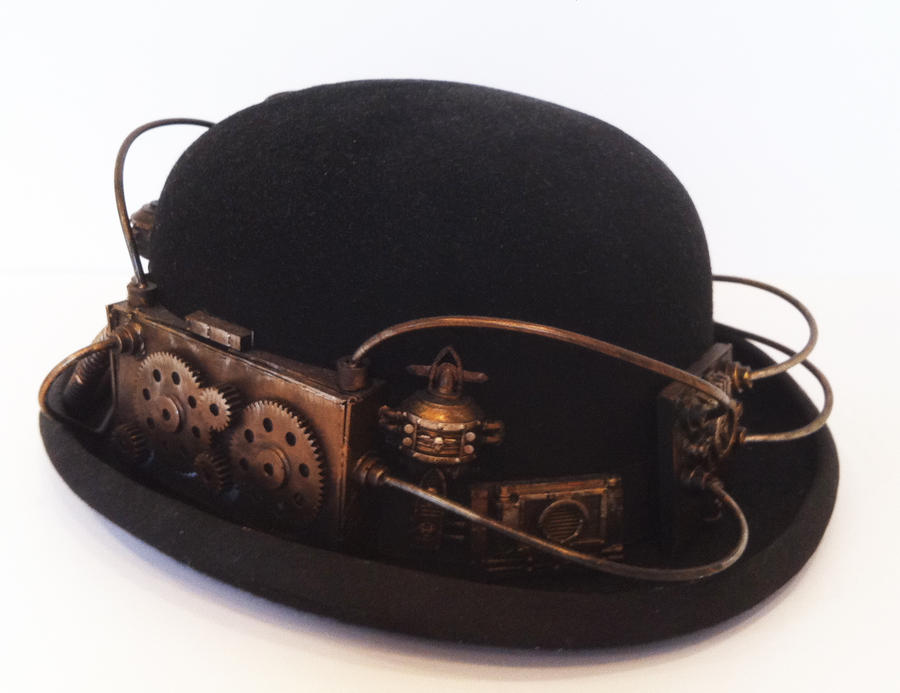 steam punk bowler hat by richardsymonsart