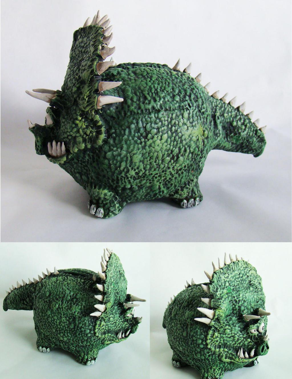 Dinosaur piggy bank by richardsymonsart on deviantart - Dinosaur piggy banks ...