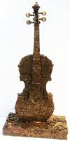 clockwork violin sculpture