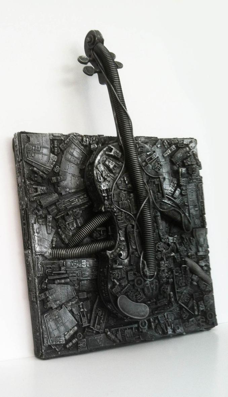Violin canvas by richardsymonsart